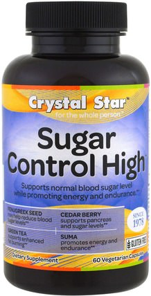Sugar Control High, 60 Veggie Caps by Crystal Star, 健康,血糖 HK 香港
