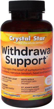 Crystal Star, Withdrawal Support, 60 Veggie Caps 健康,焦慮,藥物濫用,成癮