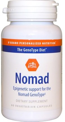 Nomad, Epigenetic Support for the Nomad GenoType, 60 Veggie Caps by Dadamo, 運動,肌酸 HK 香港
