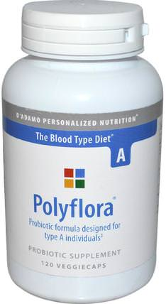 Polyflora, Probiotic Formula for Blood Type A, 120 Veggie Caps by Dadamo, 補充劑,益生菌,dadamo個性化營養血型,穩定益生菌 HK 香港