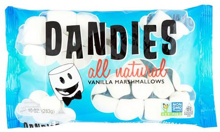 All Natural Vanilla Marshmallows, 10 oz (283 g) by Dandies, 健康 HK 香港
