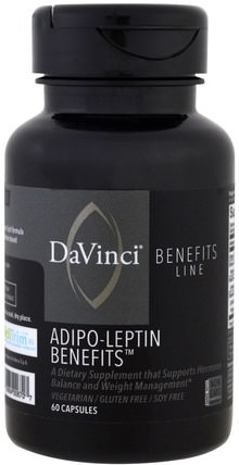 DaVinci Benefits, Adipo-Leptin Benefits, 60 Capsules 健康,飲食,補品