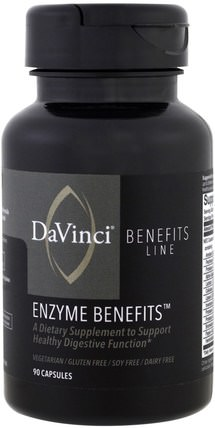 Enzyme Benefits, 90 Capsules by DaVinci Benefits, 補充劑,酶 HK 香港