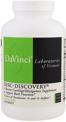 Disc-Discovery, 180 Tablets by DaVinci Laboratories of Vermont, 補充劑,牛產品 HK 香港