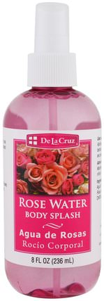 Rose Water Body Splash, 8 fl oz (236 ml) by De La Cruz, 洗澡,美女 HK 香港