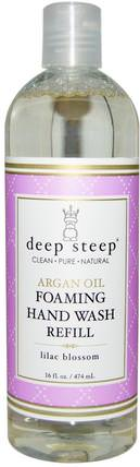 Argan Oil Foaming Hand Wash Refill, Lilac Blossom, 16 fl oz (474 ml) by Deep Steep, 洗澡,美容,摩洛哥浴 HK 香港