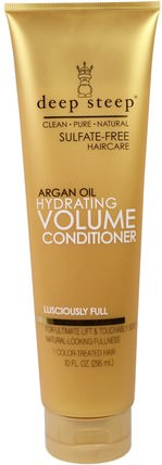 Argan Oil, Hydrating Volume Conditioner, Lusciously Full, 10 fl oz (295 ml) by Deep Steep, 洗澡,美容,頭髮,頭皮,洗髮水,護髮素,護髮素 HK 香港