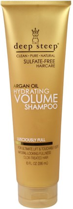 Argan Oil, Hydrating Volume Shampoo, Lusciously Full, 10 fl oz. (295 ml) by Deep Steep, 洗澡,美容,頭髮,頭皮,洗髮水,護髮素 HK 香港