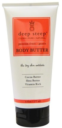 Body Butter, Passion Fruit - Guava, 6 fl oz (177 ml) by Deep Steep, 健康,皮膚,身體黃油 HK 香港