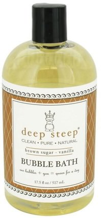 Bubble Bath, Brown Sugar - Vanilla, 17 fl oz (503 ml) by Deep Steep, 洗澡,美容,泡泡浴 HK 香港