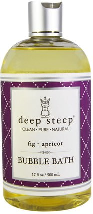 Bubble Bath, Fig - Apricot, 17 fl oz (503 ml) by Deep Steep, 洗澡,美容,泡泡浴 HK 香港