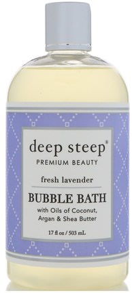 Bubble Bath, Fresh Lavender, 17 fl oz (503 ml) by Deep Steep, 健康 HK 香港
