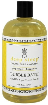 Bubble Bath, Grapefruit - Bergamot, 17 fl oz (503 ml) by Deep Steep, 洗澡,美容,泡泡浴 HK 香港