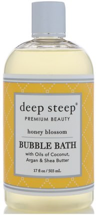 Bubble Bath, Honey Blossom, 17 fl oz (503 ml) by Deep Steep, 健康 HK 香港