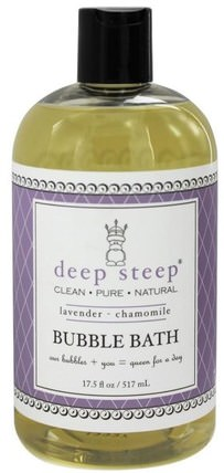Bubble Bath, Lavender - Chamomile, 17 fl oz (503 ml) by Deep Steep, 健康 HK 香港