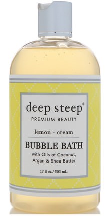 Bubble Bath, Lemon Cream, 17 fl oz (503 ml) by Deep Steep, 健康 HK 香港