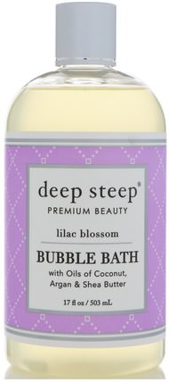 Bubble Bath, Lilac Blossom, 17 fl oz (503 ml) by Deep Steep, 健康 HK 香港