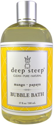 Bubble Bath, Mango - Papaya, 17 fl oz (503 ml) by Deep Steep, 洗澡,美容,泡泡浴 HK 香港