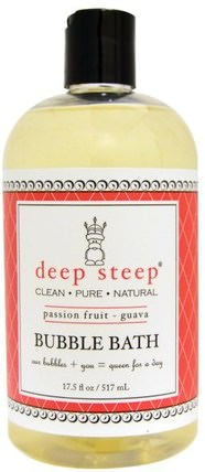 Bubble Bath, Passion Fruit - Guava, 17 fl oz (503 ml) by Deep Steep, 洗澡,美容,泡泡浴 HK 香港