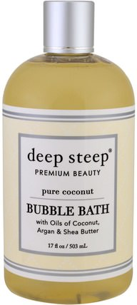 Bubble Bath, Pure Coconut, 17 fl oz (503 ml) by Deep Steep, 洗澡,美容,泡泡浴 HK 香港
