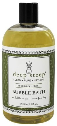 Bubble Bath, Rosemary - Mint, 17 fl oz (503 ml) by Deep Steep, 洗澡,美容,泡泡浴 HK 香港