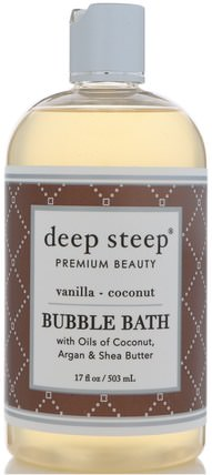 Bubble Bath, Vanilla - Coconut, 17 fl oz (503 ml) by Deep Steep, 健康 HK 香港
