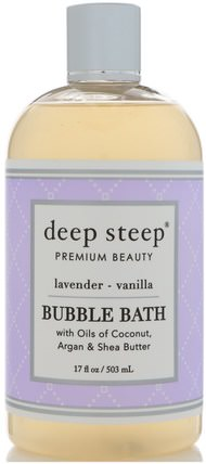 Bubble Bath, Lavender - Vanilla, 17 fl oz (503 ml) by Deep Steep, 健康 HK 香港