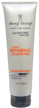 Daily Repairing Conditioner, Flawless Restoration, 10 fl oz (295 ml) by Deep Steep, 洗澡,美容,頭髮,頭皮,洗髮水,護髮素,護髮素 HK 香港