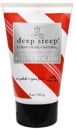 Deep Steep, Foot Polish, Candy - Mint, 4 oz (113 ml) 洗澡,美容,腳部護理
