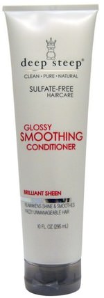 Glossy Smoothing Conditioner, Brilliant Sheen, 10 fl oz (295 ml) by Deep Steep, 洗澡,美容,頭髮,頭皮,洗髮水,護髮素,護髮素 HK 香港