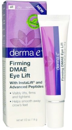 Firming DMAE Eye Lift, 1/2 oz (14 g) by Derma E, 美容,透明質酸皮膚,眼霜 HK 香港