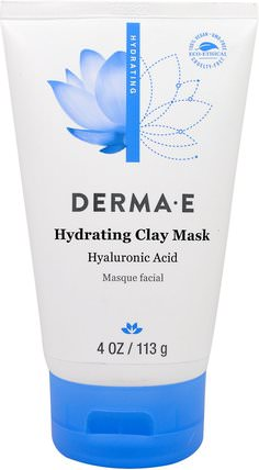 Hydrating Clay Mask, 4 oz (113 g) by Derma E, 美容,面部護理,皮膚類型正常至乾性皮膚類型抗衰老皮膚 HK 香港