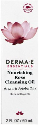 Nourishing Rose Cleansing Oil, Argan & Jojoba Oils, 2 fl oz (60 ml) by Derma E, 美容,面部護理,洗面奶 HK 香港