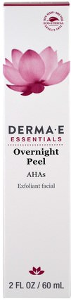 Overnight Peel, Exfoliant Facial, 2 fl oz (60 ml) by Derma E, 美容,面部護理,洗面奶,α羥基酸 HK 香港