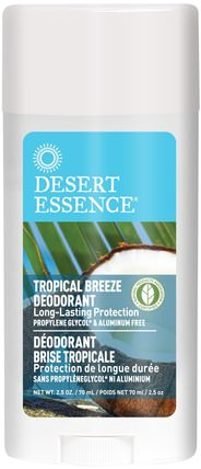 Deodorant, Tropical Breeze, 2.5 oz (70 ml) by Desert Essence, 洗澡,美容,除臭劑 HK 香港