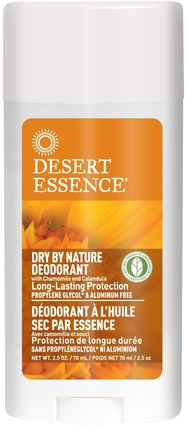 Dry By Nature Deodorant, with Chamomile and Calendula, 2.5 oz (70 ml) by Desert Essence, 洗澡,美容,除臭,健康,皮膚 HK 香港