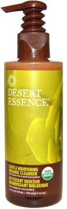 Gentle Nourishing Organic Cleanser, 6.7 fl oz (195 ml) by Desert Essence, 美容,面部護理,洗面奶,健康,皮膚 HK 香港