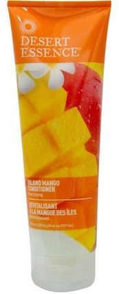 Island Mango Conditioner, Enriching, 8 fl oz (237 ml) by Desert Essence, 洗澡,美容,護髮素,頭髮,頭皮,洗髮水,護髮素 HK 香港