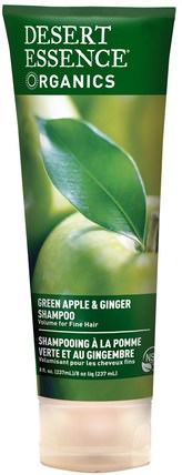 Organics, Green Apple & Ginger Shampoo, 8 fl oz (237 ml) by Desert Essence, 洗澡,美容,洗髮水,頭髮,頭皮,護髮素 HK 香港