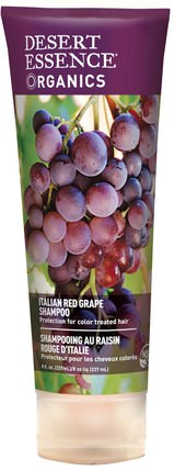 Organics Shampoo, Italian Red Grape, 8 fl oz (237 ml) by Desert Essence, 洗澡,美容,洗髮水,頭髮,頭皮,護髮素 HK 香港