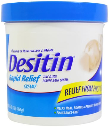 Diaper Rash Cream, Rapid Relief, 16 oz (453 g) by Desitin, 兒童健康,尿布,尿布霜 HK 香港