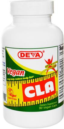 Vegan, CLA, 90 Vegan Caps by Deva, 減肥,飲食,cla(共軛亞油酸),健康 HK 香港
