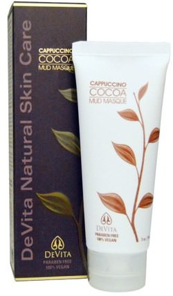 Cappuccino Cocoa Mud Masque, 3 oz (90 ml) by DeVita, 美容,面部護理,皮膚,面膜,泥面膜 HK 香港