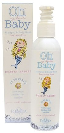 Oh My Devita Baby, Shampoo & Body Wash, Bubbly Babies, Fragrance Free, 6 fl oz (177.44 ml) by DeVita, 洗澡,美容,洗髮水,兒童洗髮水,沐浴露,兒童沐浴露,兒童沐浴露 HK 香港