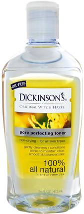 Original Witch Hazel, Pore Perfecting Toner, 16 fl oz (473 ml) by Dickinson Brands, 美容,面部調色劑,皮膚,金縷梅 HK 香港