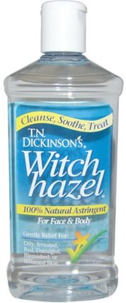 Witch Hazel, For Face & Body, 16 fl oz (473 ml) by Dickinson Brands, 健康,皮膚,金縷梅 HK 香港