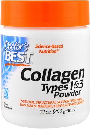 Best Collagen, Types 1 & 3, Powder, 7.1 oz (200 g) by Doctors Best, 健康,骨骼,骨質疏鬆症,膠原蛋白 HK 香港