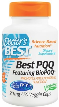 Best PQQ, 20 mg, 30 Veggie Caps by Doctors Best, 補充劑,抗氧化劑,pqq(biopqq),抗衰老 HK 香港
