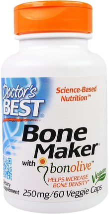 Bone Maker with Bonolive, 250 mg, 60 Veggie Caps by Doctors Best, 健康 HK 香港