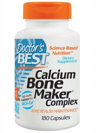 Calcium Bone Maker Complex, 180 Capsules by Doctors Best, 補品,礦物質,鈣,健康,骨骼 HK 香港